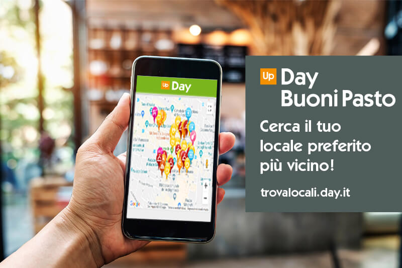 Trovalocali, buoni pasto Up Day